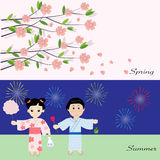 Seasonal in japan spring and summer Stock Photos