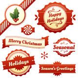 Seasonal Labels, Tags, And Banners For Holidays Royalty Free Stock Images