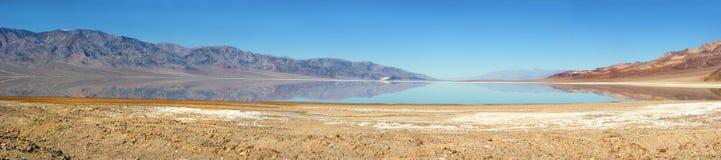 Seasonal lake in Death Valley Royalty Free Stock Photos