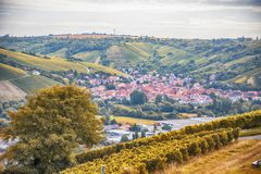 Panoramic view of old town Wurzburg, Bavaria Royalty Free Stock Photography