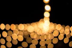 Bokeh of Christmastime. Seasonal lights create abstract at christmastime stock photography
