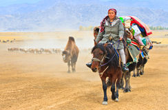 Seasonal livestock migration in Xinjiang China Stock Image