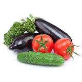 Seasonal organic raw vegetables Stock Photos