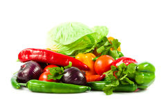 Seasonal organic raw vegetables. Stock Photo