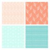 Seasonal pastel color patterns. Set royalty free illustration