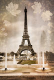 Seasonal picture of Eiffel tower in Paris Royalty Free Stock Photo