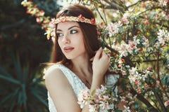 Seasonal portrait of a beautiful girl Stock Photos
