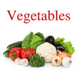 Seasonal raw vegetables Stock Photos