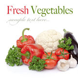 Seasonal raw vegetables Stock Images