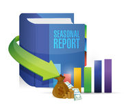 Seasonal report business book illustration design Stock Photography