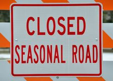 Seasonal Road Sign Royalty Free Stock Image