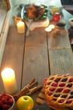 Seasonal meal background Stock Photos