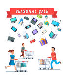 Seasonal Sale advert banner Stock Image