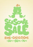 Seasonal sale design template. Stock Image