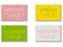 Seasonal Sale Flyers, Posters Stock Image