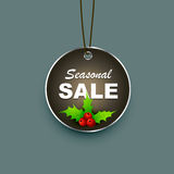Seasonal sale label Stock Photography