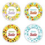 Seasonal sale labels Stock Photography