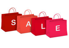 Seasonal sale - shopping bags Stock Photo