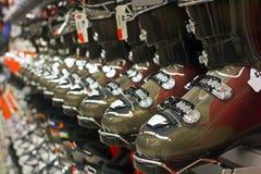 Seasonal sale of ski equipment Stock Image