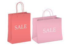 Seasonal sale - two shopping bags Royalty Free Stock Photo