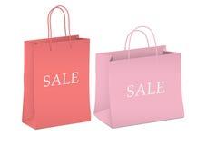 Seasonal sale - two shopping bags Royalty Free Stock Photo