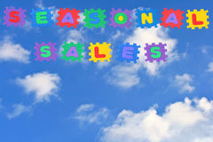 Seasonal sales-clouds Royalty Free Stock Photo