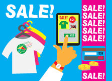 Seasonal Sales-illustration Stock Images