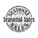 Seasonal sales rubber stamp Royalty Free Stock Photography