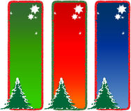 Seasonal Series. Seasonal greeting cards design with different color options stock illustration