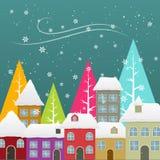 Seasonal snowfall Royalty Free Stock Photos