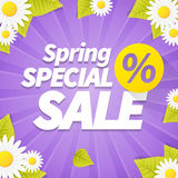 Seasonal special spring sales business background Stock Images