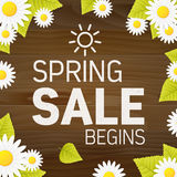 Seasonal spring sales begins business adverisement background Royalty Free Stock Image