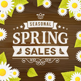 Seasonal spring sales business adverisement background Royalty Free Stock Images