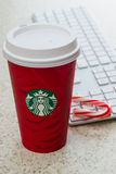 Seasonal Starbucks cup Royalty Free Stock Images