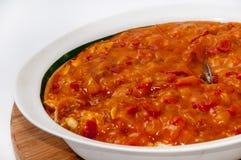 Seasonal stew of tomatoes and paprika Stock Photos