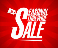 Seasonal storewide sale. Royalty Free Stock Photo