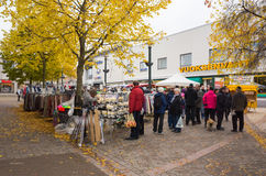 Seasonal street Fair in Imatra, Finland Royalty Free Stock Photo