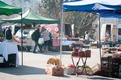 Seasonal street market Stock Images