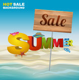 Seasonal summer sale poster Stock Image