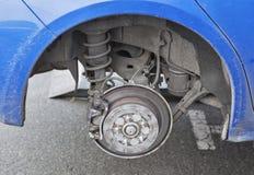 Seasonal tire changing Royalty Free Stock Photo