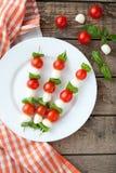 Seasonal traditional Italian caprese salad skewers Stock Images