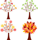 Seasonal Tree Illustrations Stock Photography