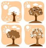 Seasonal trees Royalty Free Stock Photo