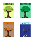 Seasonal trees Stock Images