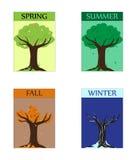 Seasonal trees Stock Images