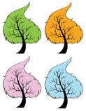 Seasonal trees Royalty Free Stock Photos