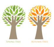 Seasonal trees Royalty Free Stock Image