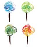 Seasonal trees sketch Stock Images