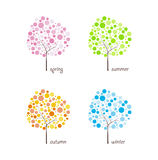 Seasonal trees vector Stock Photos