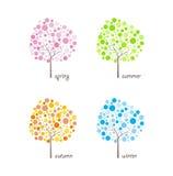 Seasonal trees vector Stock Photos